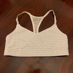 Victoria's Secret Mesh Cami Sports Bra - White